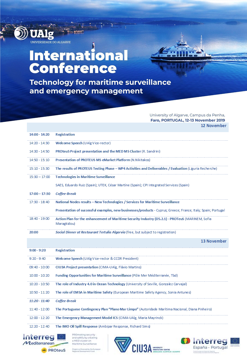 Seminário Internacional Technology for Maritime Surveillance and Emergency Management